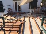 Terrasse en bois avec puit de lumiaire